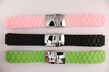 Paris Hilton 18mm Silikon Uhrenarmband Schwarz Grün Pink Länge: S bis XL