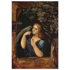 Paul Cézanne, Dame mit Papagei, Poster