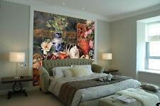 3D Colored Vase Cat Wall Paper Wall Print Decal Wall AJ WALLPAPER CA