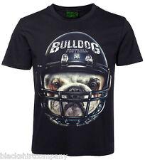 3D T-Shirt Bulldogge Football mit Edelstahl Piercing
