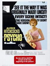 Psycho 1960 Retro Movie Vintage Giant Wall Print POSTER