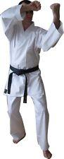 White KARATE trajes - 8 OZ (approx. 226.79 g) - tamaños de 100 Cm a 200 Cm-Poli Algodón ~ Taisho marca