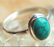 Handarbeit Ring Silber Türkis Echt 57 60 61 Silberring Schlicht elegant Zeitlos