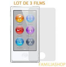 Lot de 3 films de protection écran pour iPod Nano 7 7G
