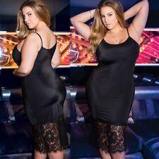 Sexy Women Lace Plus Size Underwear Lingerie Set Ladies Black Nightdress 3XL-5XL