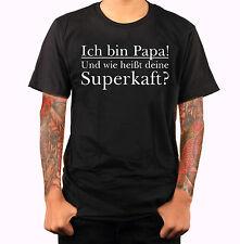 Das Papa Shirt Vatertag Geschenk T-Shirt Spruch Vater Funshirt Textildruck S5