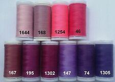 Nähgarn (€0,80/100m) 2 Rollen à 200M 1A Qualität rosa pink lila