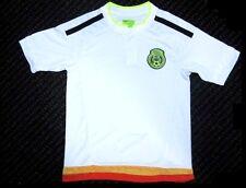 Mexico Soccer Futbol White Away Jersey Shirt Patch Logo Youth 2,4,6,8,10,12,14