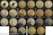 Fidji pièces, choix de pièces fournies en coin portefeuille.