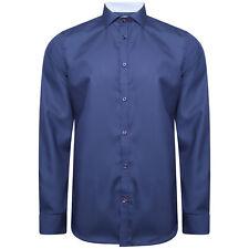 Harry Brown Dark Blue Cotton Shirt