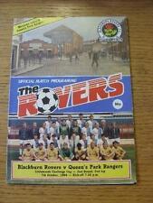 07/10/1986 Blackburn Rovers v Queens Park Rangers [Football League Cup] . Item I