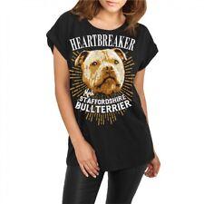 Frauen lässiges Shirt Staffordshire Bullterrier hunde dogs stafford listenhunde
