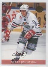 1995 Leaf Elit Set Sweden #117 Pierre Johnsson Rogle BK (SHL) Rookie Hockey Card
