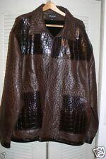 MAURI Genuine OSTRICH Alligator Crocodile MINK Jacket