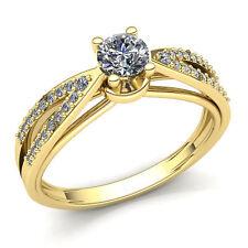 0.75ct Round  Diamond Ladies Loop Solitaire Engagement Ring 14K Gold