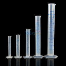 Nuovo 10 - 500ML Cilindro Graduato Liquido Misurino Plastica Measuring Cylinder