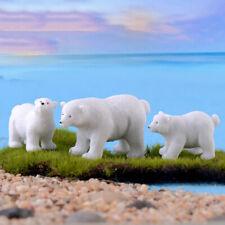 un ours blanc de simulation miniatures l'ours polaire de figurines animal