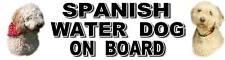 SPANISH WATER DOG ON BOARD Car Sticker By Starprint