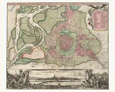 Alte Wien Österreich Dekorative Landkarte Homann ca. 1716 Papier Leinwand