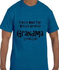 Funny Humor World's Greatest Grandma T-Shirt tshirt