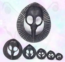 Pájaro De Madera Tallada cráneo Calibre Grande oreja enchufe negro orgánico shell silla Areng Crow
