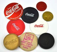 COCA-COLA COKE DIVERSOS monedas fichas de acceso Token chips EE.UU. Alemania