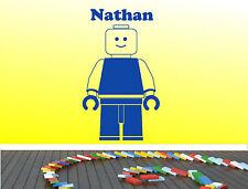 Lego pegatinas de pared calcomanía Dormitorio Pared Arte Niños Diseño calcomanía