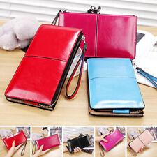 Women Cute Wallet Coin Bag Case Leather Simple Long Handbag Purse Hot