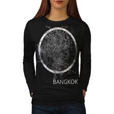 Thailand Bangkok Map Women Long Sleeve T-shirt NEW   Wellcoda