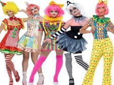 Ladies Circus Clown Costume Funny Women Fancy Dress Halloween UK 8-18