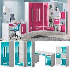 Jugendzimmer Kinderzimmer komplett hochglanz GEROME Set D weiß grau Farbauswahl