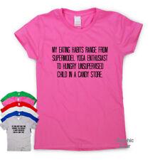 Mis hábitos alimentarios Divertido Camisetas Regalo impresionante para hombre para mujer sarcástico Slogan Tee