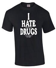 I Hate Drugs Love Weed Ganja Cannabis Bière Buvant sort Alcool Fête T-Shirt