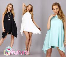 Hot Elegant Party Dress Asymetric Shift Style Sleeveles Size 8-14 FA246