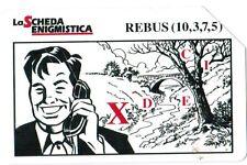TELECARTE  TELECOM  ITALIA  LA SCHEDA ENIGMISTICA