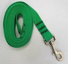 Kelly Green Dog Leash Long Obedience Foot Feet Training Lead 6' 15'