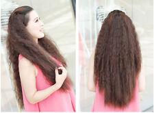 Haarteil halb Perücke Haarverlängerung fein gewellt ca 80cm lang neu