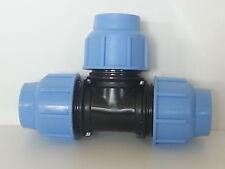 T TEE compressione tubi polietilene 25 - 32 - 40 PN16 25x25x25 32x32x32 40x40x40