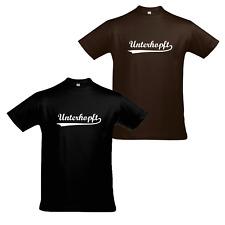 """Oktoberfest Wiesn T-Shirt """"Unterhopft"""" Herren lustiges Funshirt"""