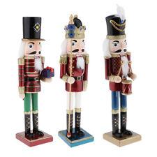 38cm Dipinti A Mano In Legno Schiaccianoci Bambole Soldati Figura Decorazione