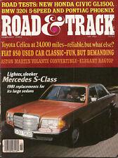 Road & Track Feb 1980 - Mercedes Benz S Class -- 380SEL - Fiat 850 - BMW 320i