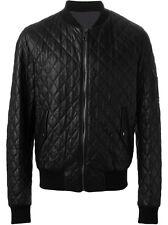 DE Herren Lederjacke Biker Men's Leather Jacket Coat Homme Veste En cuir R100a