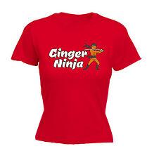 Ginger Ninja WOMENS T-SHIRT tee Christmas gift samurai red head cartoon funny