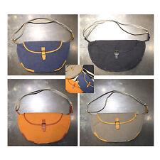Korea Fashion Half Moon Cross Shoulder Messenger Bag Handbag Cotton Men Women