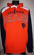 CHICAGO BEARS Hooded Jacket Full Zip Hoody Screened & Sewn Logos M L XL 2X