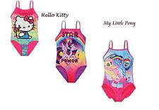 Gorgeous Girls My Little Pony Hello Kitty swimming costume swimwear 3-10 Y SALE