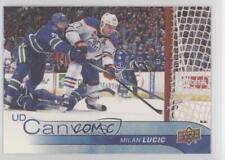 2016-17 Upper Deck UD Canvas #C149 Milan Lucic Edmonton Oilers Hockey Card