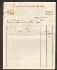 """STRASBOURG (67) SOIERIE """"Ets. N. MAY"""" en 1936"""