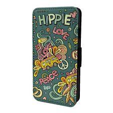 Retro Hippie Peace Flip Case Cover For Mobile Phone - S6367