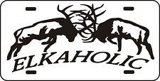 ELKAHOLIC LICENSE PLATE deer or elk hunt bow rifle Man Cave Cabin Decor